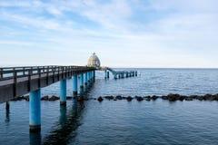 Seebruecke Sellin sur l'île de Ruegen, Mecklenburg-Vorpommern, Allemagne image stock