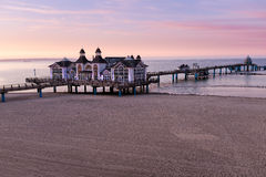 Seebruecke Sellin sur l'île de Ruegen, Mecklenburg-Vorpommern, Allemagne photos stock