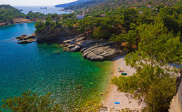 Seebucht in Griechenland Lizenzfreies Stockfoto