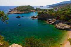 Seebucht in Griechenland Stockfotografie