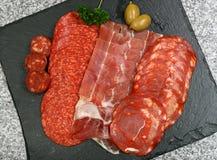 Seection de la carne de los Tapas Imagen de archivo libre de regalías