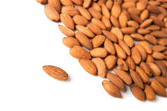 Seed of almonds nuts Royalty Free Stock Photos