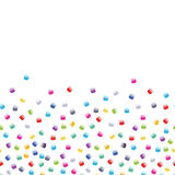 Seed bead seamless horizontal background. Royalty Free Stock Image