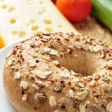 Seed brown bagel Royalty Free Stock Photography