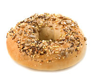 Seed Covered Bagel Royalty Free Stock Photography