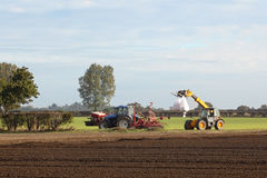 Seed drill and loader Stock Photography