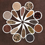 Seed Food Sampler Royalty Free Stock Photography