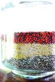 Seed in jar stock photos