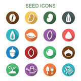 Seed long shadow icons Stock Photos
