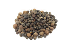 Seed mix of black and allspice. On a white background royalty free stock photos