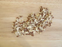 Seed mixture with rolled oats, flaxseeds, and sesame Stock Photography