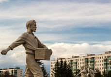 Seed Sowing White Man Statue Royalty Free Stock Photography