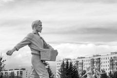 Seed Sowing White Man Statue Royalty Free Stock Images