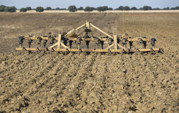 Seedbed cultivator-harrow. Triple K by Kongskilde (this model was advertised by Kongskilde as an all-purpose cultivator and as a combination of a spring-tine stock photos