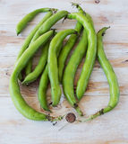 Seedcases lima beans. Royalty Free Stock Images