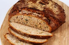Seeded bread loaf. Royalty Free Stock Image