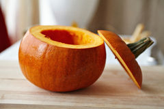 Seeded pumpking Stock Photo