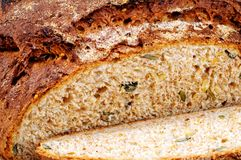 Seeded wholemeal bread. Royalty Free Stock Photography
