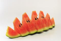 Seedless Watermelon Pieces. Juicy watermelon pieces stack for summer Stock Photo