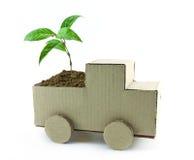 Seedling in car Stock Photos