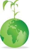 Seedling globe royalty free illustration