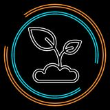 Seedling icon vector, growing tree, green agriculture royalty free illustration