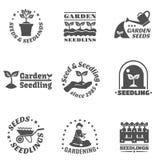 Seedling Label Set Royalty Free Stock Photos