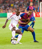 Seedorf and Keita in action Stock Images