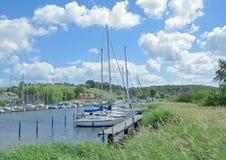 Seedorf Ruegen ö, Östersjön, Tyskland Royaltyfria Bilder