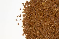 Seeds. A bunch of flax seeds in a closeup Royalty Free Stock Photo