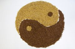 Seeds. A bunch of seeds making up the tao symbol Stock Photography