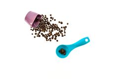 Seeds of black pepper woken scoop Stock Photo