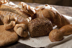Seeds on bread and pastries Royalty Free Stock Images