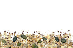Seeds and cereals background Royalty Free Stock Photos
