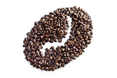 Seeds of coffee as form symbol Stock Image