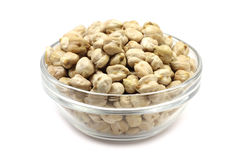 Seeds of dried chickpeas in a glass Royalty Free Stock Images
