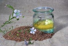 Seeds of flax Stock Photos