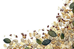 Seeds, grains and cereals Royalty Free Stock Photos