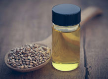 Free Seeds Of Cannabis Or Hemp With Essential Oil In Bottle Stock Photos - 88505693