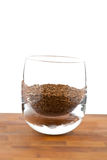 Seeds Of Dried Caraway In Glass On Wooden Table Royalty Free Stock Images