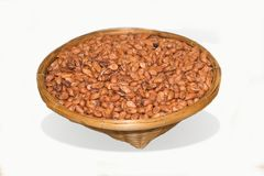 Seeds peanut useful for health in basket. Stock Photography