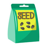 Seeds, single icon in cartoon style.Seeds, vector symbol stock illustration web. Stock Images