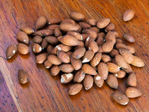 Seeds of sweet almonds Stock Photo