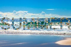 Seefeiertagscollage Stockbilder