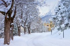Seefeld castle in winter Stock Photo