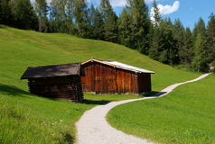 Seefeld Huts Royalty Free Stock Photography