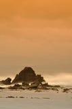 Seefelsen im Sonnenuntergang Stockbild