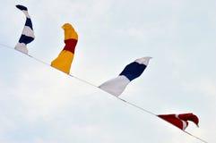 Seeflaggen Stockbild