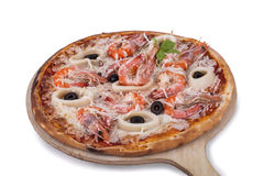 Seefoodpizza Royalty-vrije Stock Afbeelding