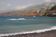 Seegolf und Gebirgsküste Puerto de la Cruz, Teneriffa, Spanien Stockbilder